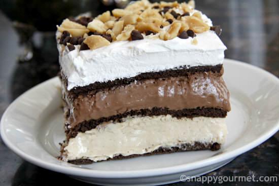 No-Bake Peanut Butter Chocolate Lasagna Recipe   snappygourmet.com