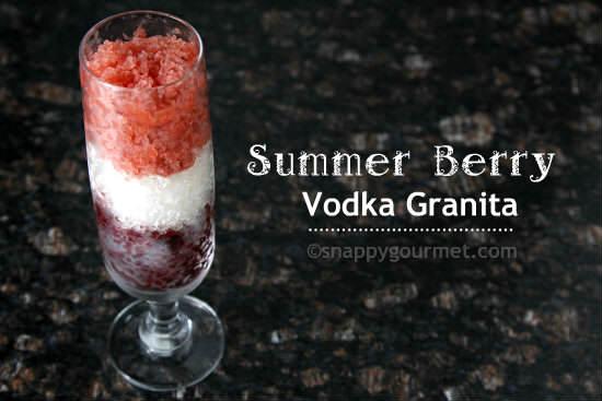 Summer Berry Vodka Granita Recipe | snappygourmet.com