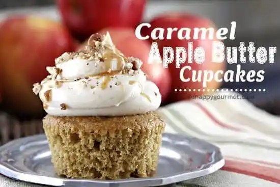 Caramel Apple Butter Cupcakes Recipe | snappygourmet.com