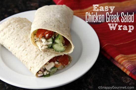 Easy Chicken Greek Salad Wrap Sandwich & Yummly