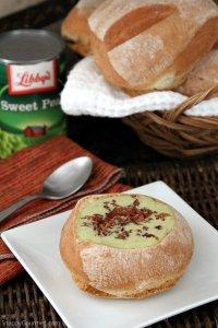 Mini Pea Soup Bread Bowls Recipe - Snappy Gourmet