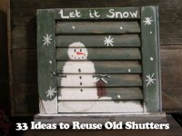 34 DIY Ideas to Reuse Your Old Shutters - Snappy Pixels