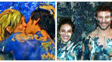 En 2013 Esguerra impresiona el mundo de los retratos al producir pinturas que celebran el amor y el arte al presentar parejas teniendo sexo sobre un lienzo.