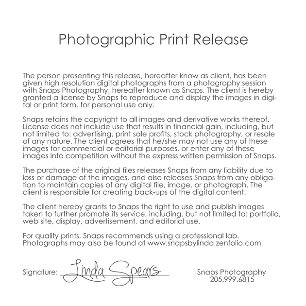 Snaps By Linda Spears Digital Downloads Ups Signature Release Form