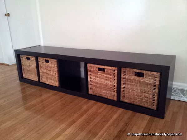 Ikea Hack Bookcase To Bench With A Removable Cushion