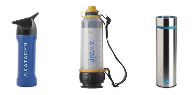 Water purifier bottles