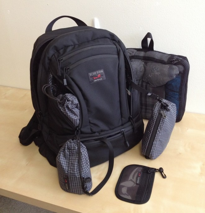 Tom Bihn Synapse 25 with accessories