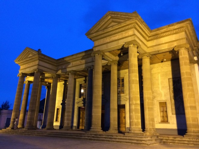 Xela Municipal Theater at night