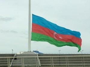 Baku flagpole