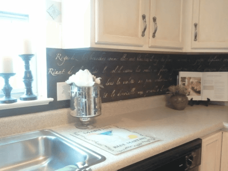 DIY: Stenciled Backsplash