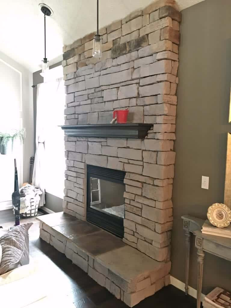 Fireplace Stone How To Paint A Stone Fireplace
