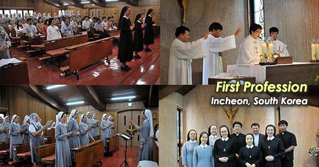 Notre Dame Perpetual Calendar Our Lady Of Perpetual Help Catholic Church First Profession In Incheon Regina Pacis Province South
