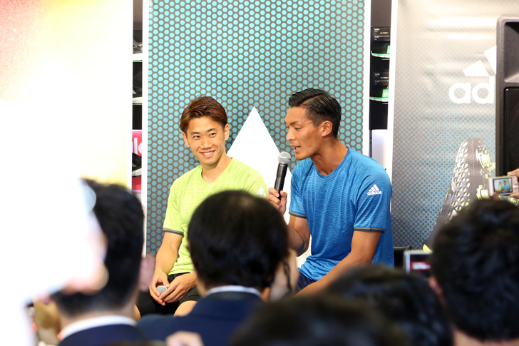Photo02 - アディダスは、最新フットボールスパイク「X/ACE」の発売を記念して香川真司選手、槙野智章選手を招いたイベントを開催