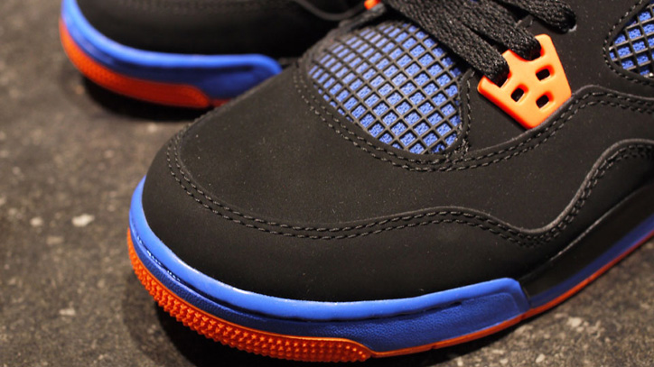 Photo03 - NIKE AIR JORDAN 4 RETRO BLACK/SAFETY ORANGE-GAME ROYAL