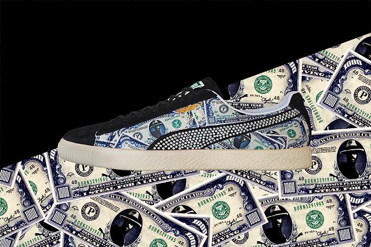 "Photo02 - プーマは、オリジナルのドル札紙幣をプリントしたmita sneakersとのコラボレーションモデルCLYDE ""mita sneakers""を発売"