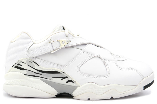 Air Jordan 8 Low White Chrome 2003 Sneaker Bar Detroit