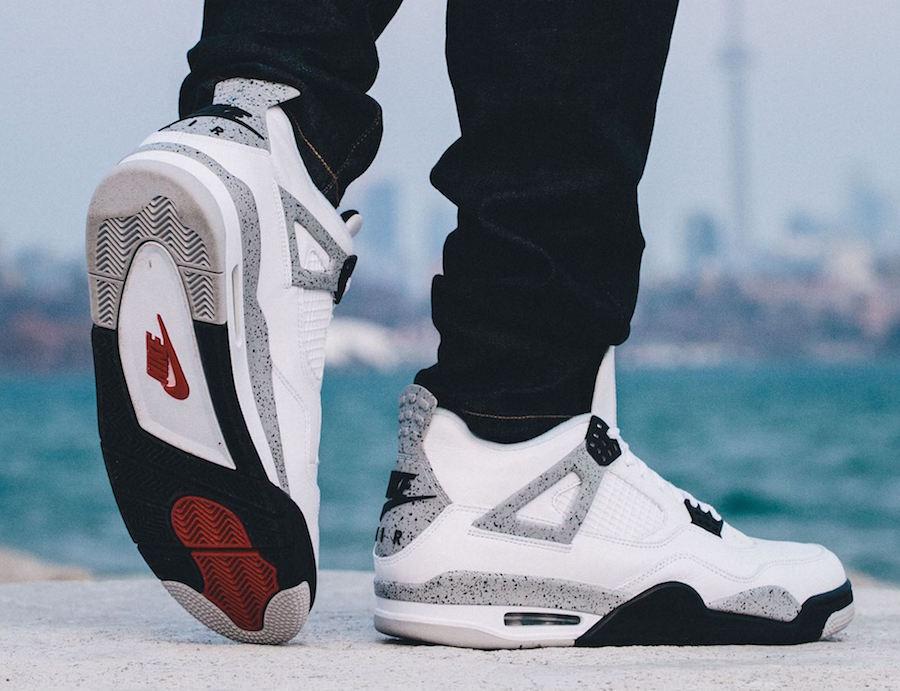 Air Jordan Wallpaper Iphone 4 Nike Air Jordan 4 Og 89 White Cement 2016 Sneaker Bar