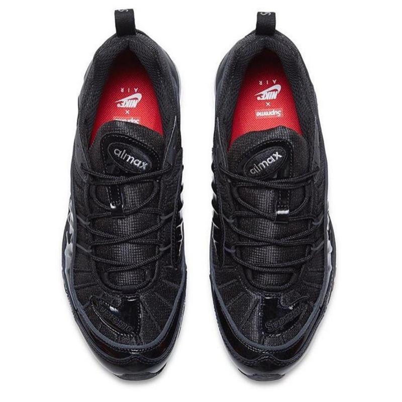 Supreme Nike Air Max 98 Black Sneaker Bar Detroit