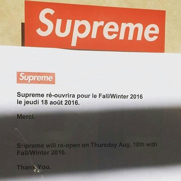 supreme 2016FW