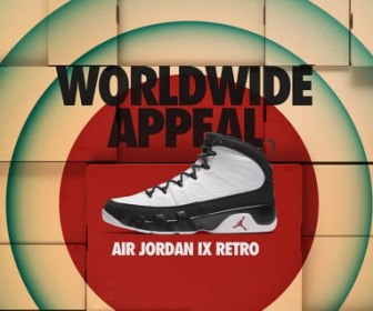 国内12月3日発売予定 AIR JORDAN 9 RETRO WORLDWIDE APPEAL