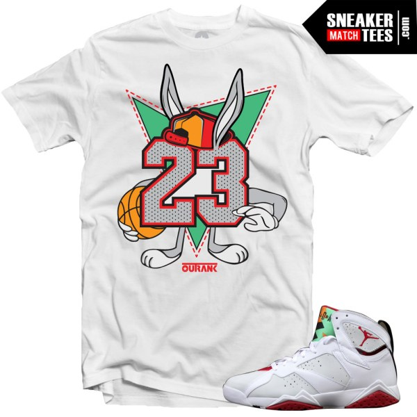 "Hare 7s shirts to match ""23"" White Sneaker Tees shirt"