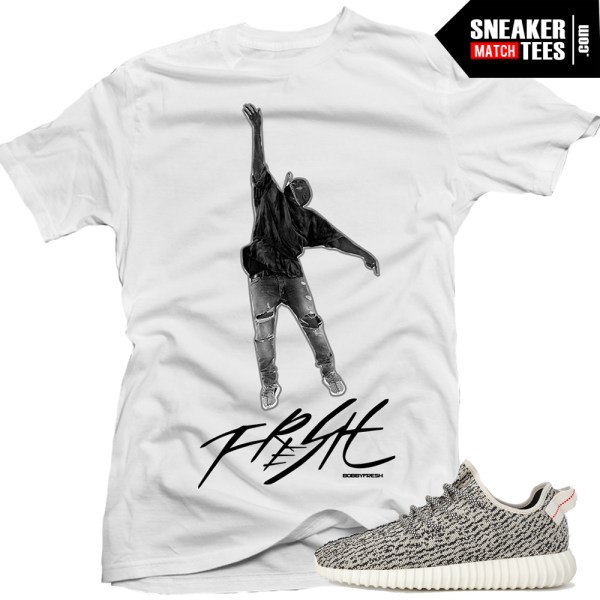 Yeezy boost shirts to match mic toss white sneaker tees for Booster t shirt reviews