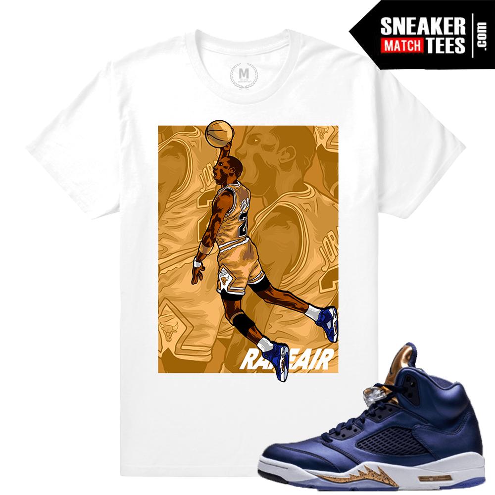 Air Jordan 5 Bronze matching Sneaker tees | Sneaker Match Tee