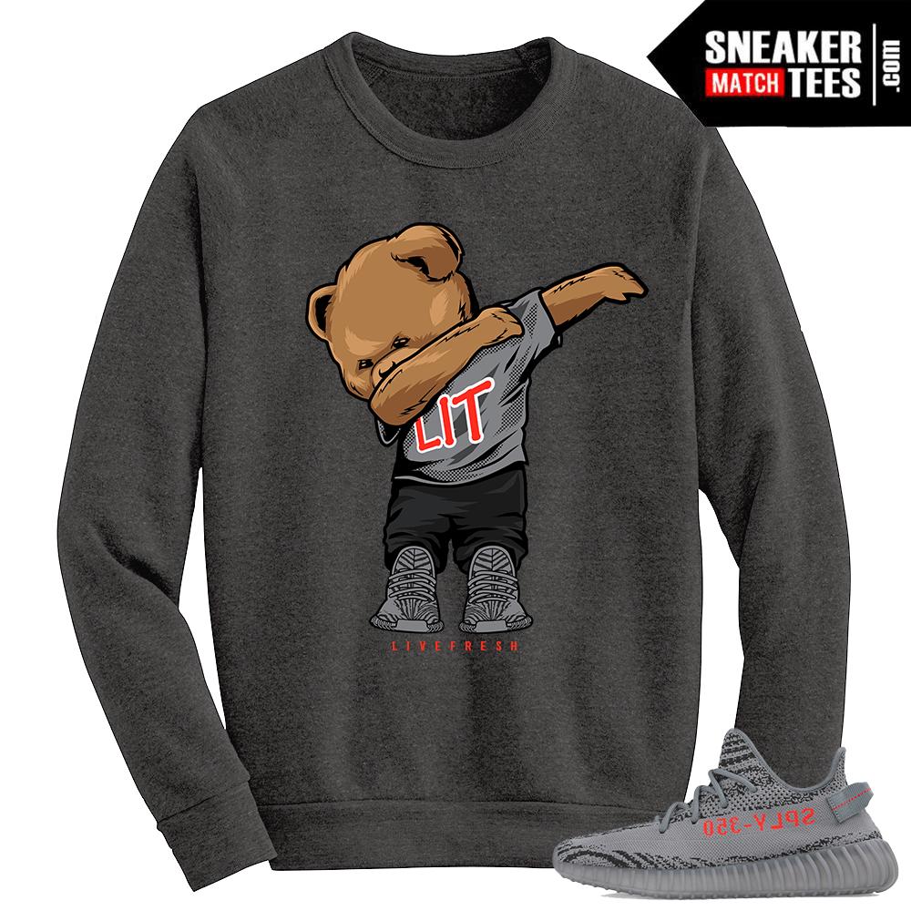 db624b39 Beluga Yeezy Boost 350 V2 Crewneck Sweater Grey Dabbin Polo Bear
