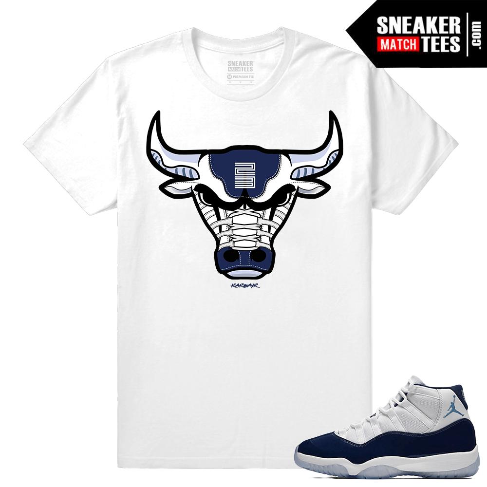 790c33facf9 Jordan 11 Midnight Navy 11 T shirt Rare Air Bull - Sneaker Match Tees