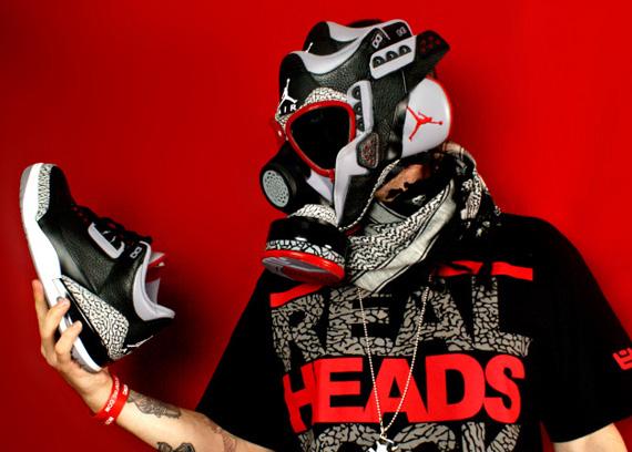 Supreme Wallpaper Girl Cartoon Air Jordan Iii Black Cement Gas Mask Sneakernews Com