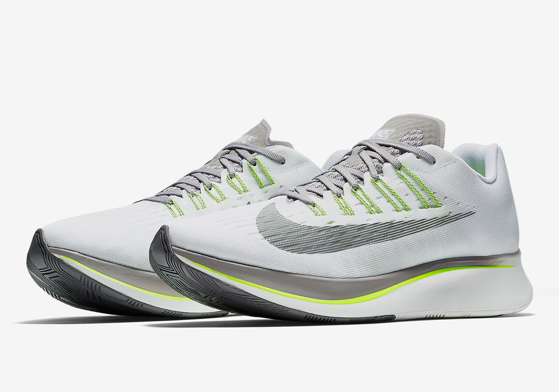 Nike Zoom Grey And Green Nike Zoom Fly Volt 880848 101 Release Info Sneakernews