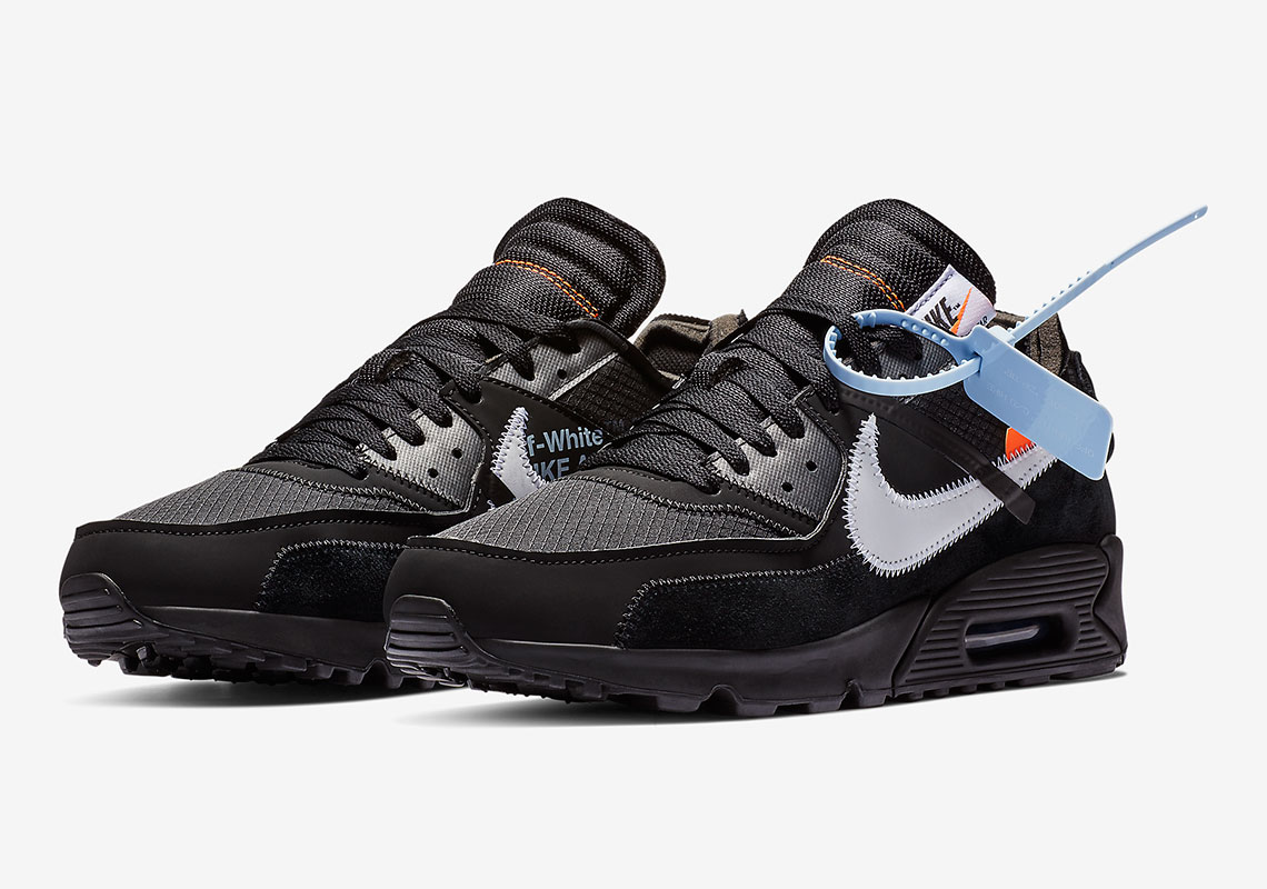 Air Max X Off White Black Off White Nike Air Max 90 Black Official Release Date