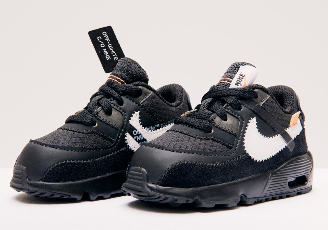 Air Max X Off White Black Off White Nike Air Max 90 Little Kids Toddlers Release
