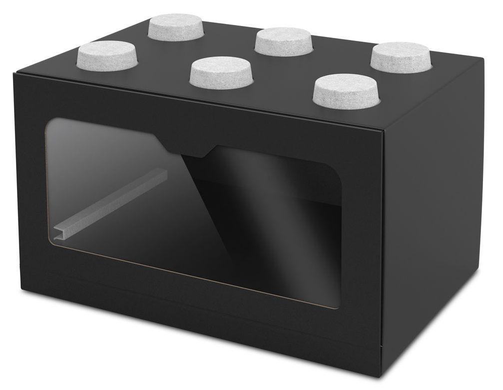 Schuhregal kunststoff stapelbar bissa schuhschrank 2fach schwarz braun