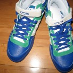 Adidas Blue Green and White & Grey Vans mid tops - Friends sneaks who crashed at my house