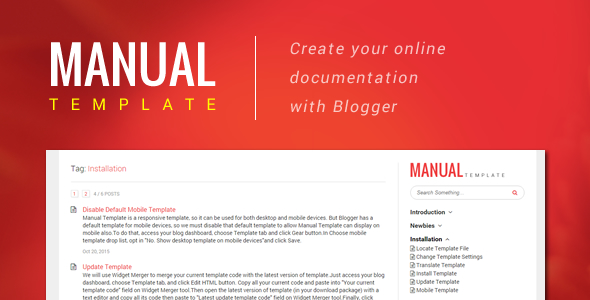 Discussions on Manual Template \u2013 Create Your Online Document with