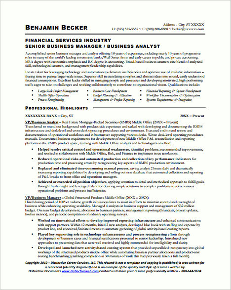 senior business analyst resume sample it technical analystsenior
