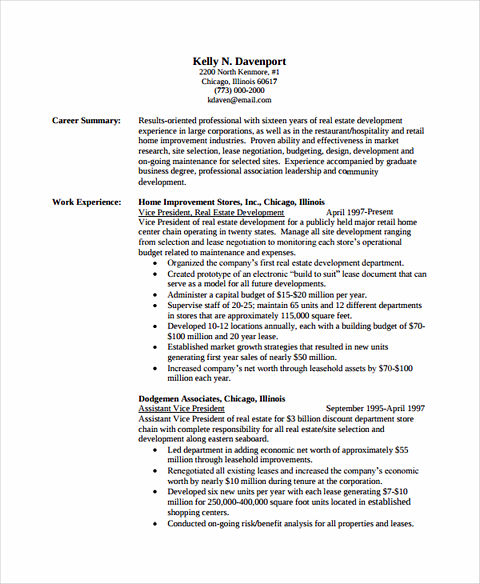 resume academic background