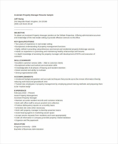 real estate resume for reaching success real estate resumes - Real Estate Manager Resume