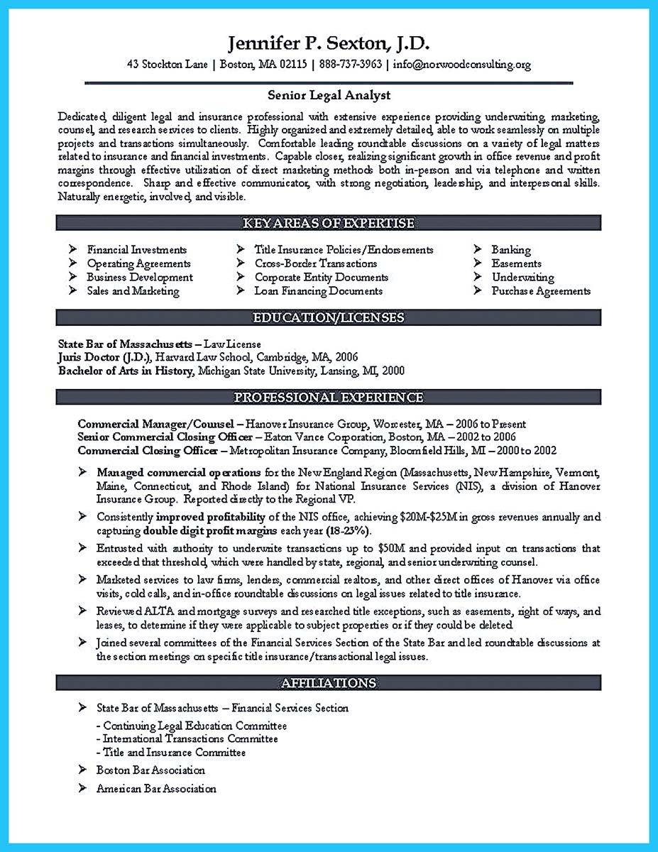 law firm resume example