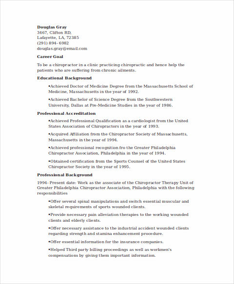 State Good and Clear Objectives in Chiropractic Assistant Resume!