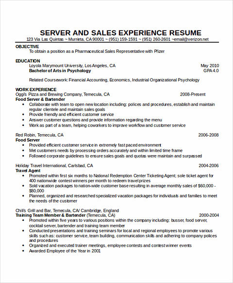 sample of waitress resume server resume sample waitress resume waitress resume - Sample Of Waitress Resume