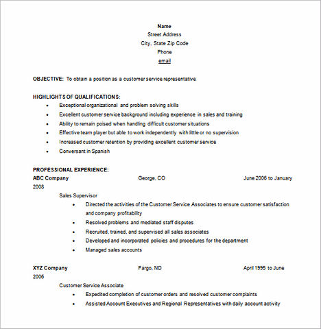 Examples Of Effective Resumes - Examples of Resumes