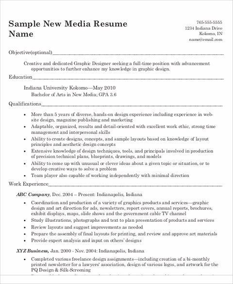 Keep the Graphic Design Resume in Control