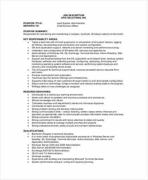 System Administrator Resume Sample and Tips - lead administrator sample resume