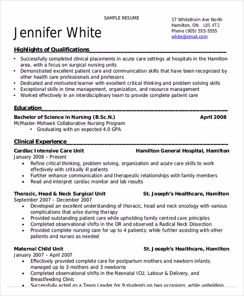 Nursing Student Resume Samples and Tips