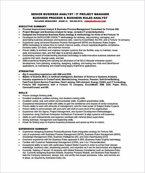 Professional Business Analyst Resume That Is Convincing and Effective