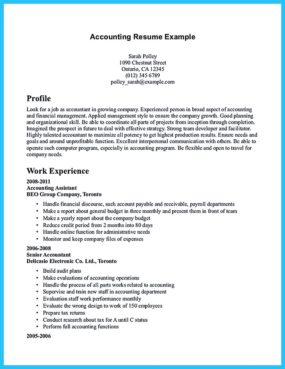 63 senior accountant resume format application letter audit