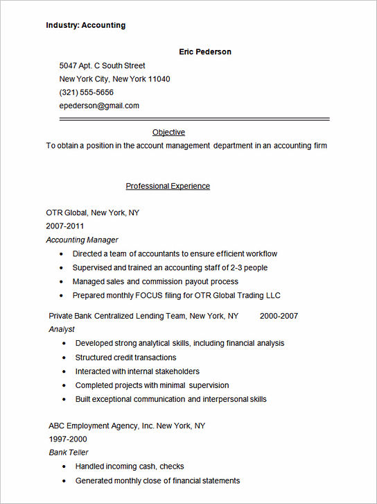 sample job letter and resume