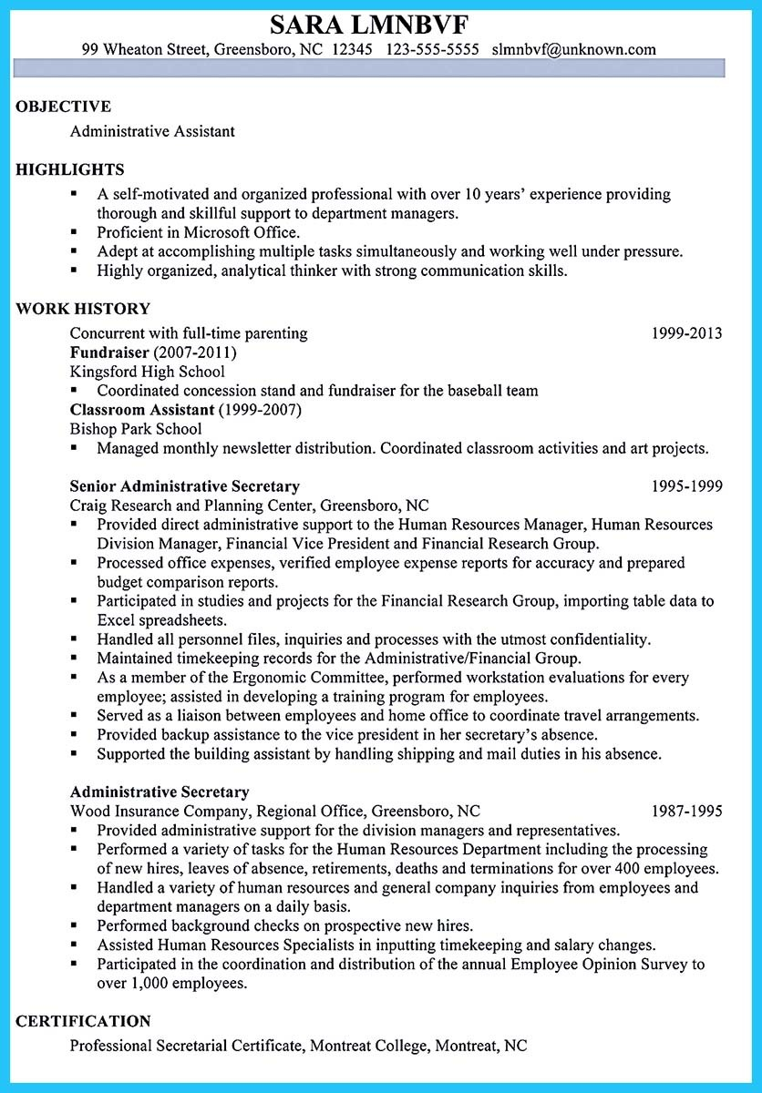 sample resume of medical administrative assistant